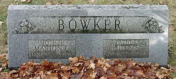 Marion Camille Bowker 1886 - 1973