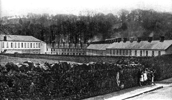 Linen Mill of Thomas Sinton, Tandragee, Co. Armagh and the houses of Mill Row