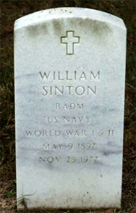 Headstone of William Sinton 1897 - 1977