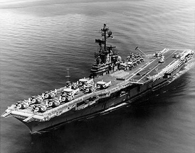 USS Ticonderoga in better days