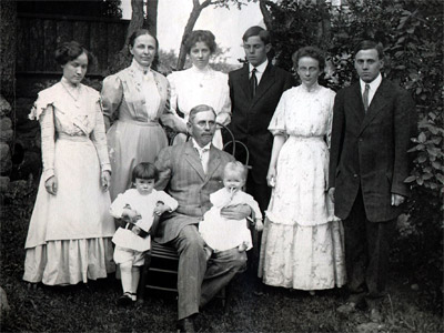 William Sinton and family